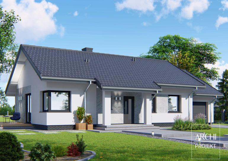 Wydłużenie budynku z dwuspadowym dachem